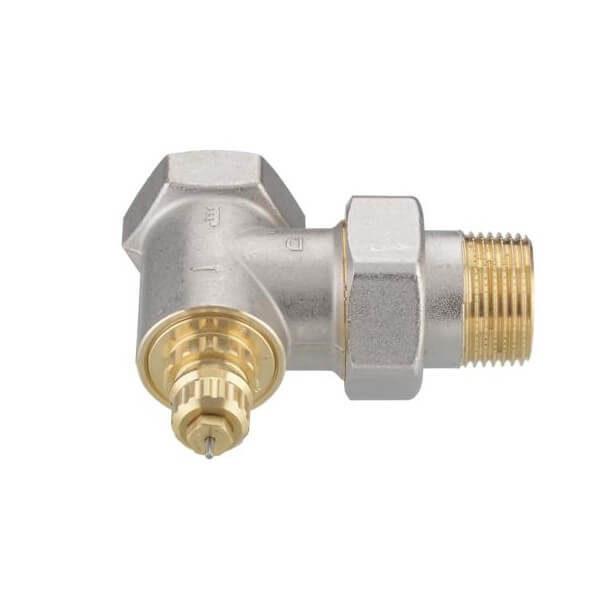 Термостатический клапан Danfoss угловой для однотрубных систем типа RTR-G и RA-G